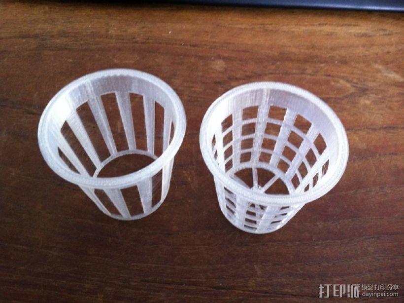 2英寸水培系统净锅 3D模型  图1