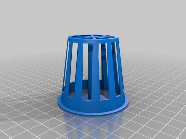 2英寸水培系统净锅 3D模型  图3