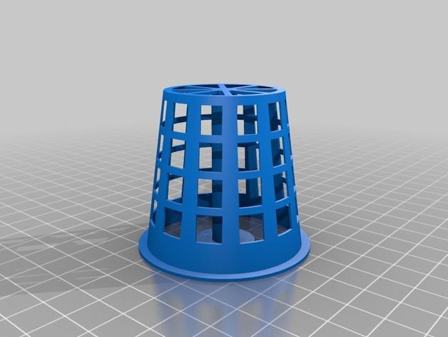 2英寸水培系统净锅 3D模型  图2