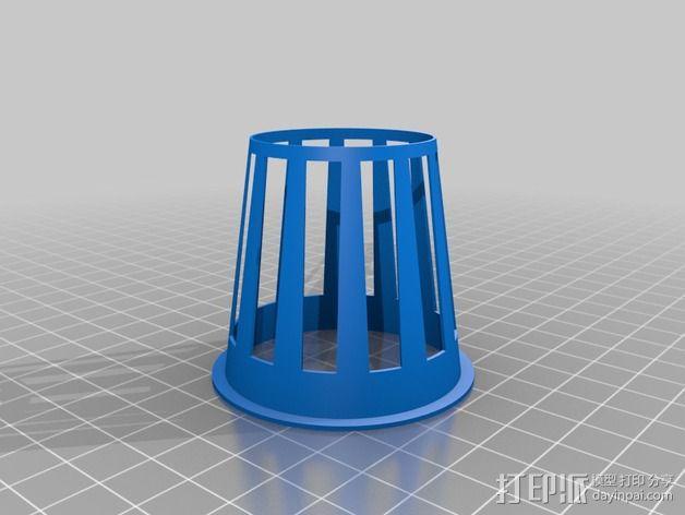 2英寸水培系统净锅 3D模型  图5