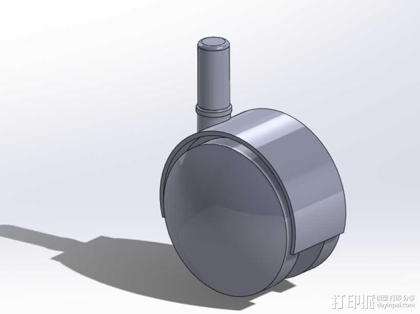 宜家转椅轮 3D模型  图2
