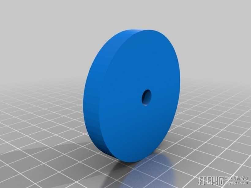 宜家转椅轮 3D模型  图5