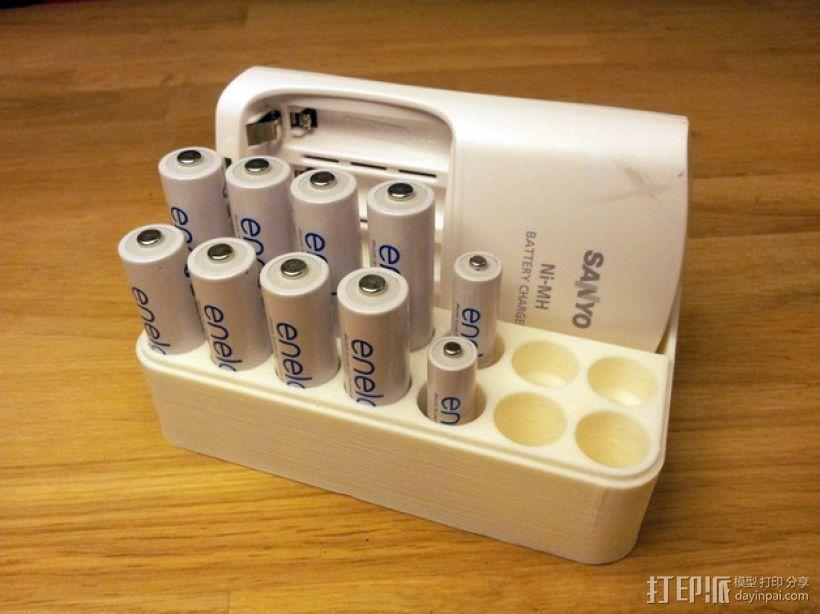 可充电电池盒 3D模型  图1