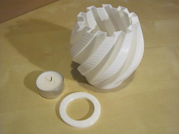 茶灯烛台套装 3D模型  图1