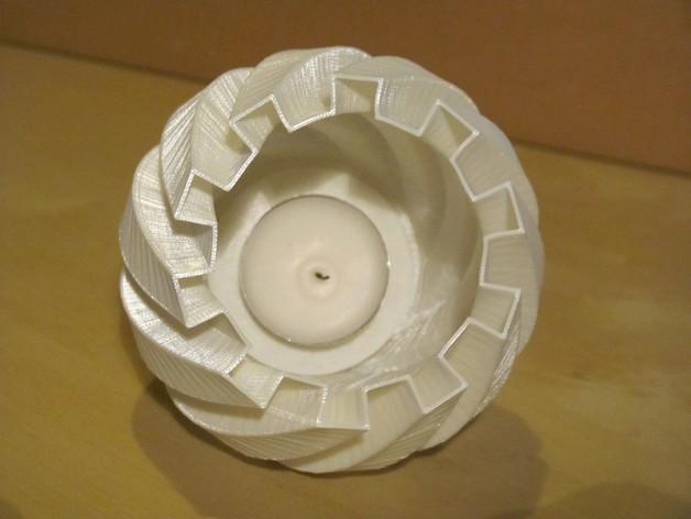 茶灯烛台套装 3D模型  图3