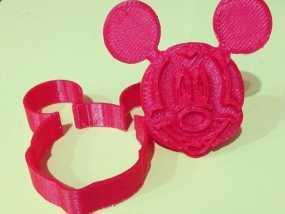 米奇饼干模具切割机 3D模型
