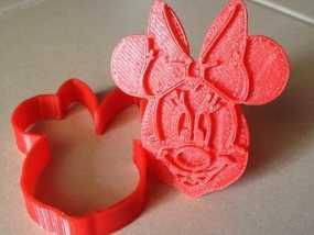 米妮饼干模具切割刀 3D模型