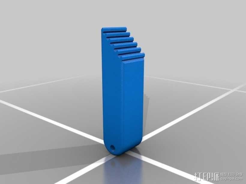 可伸缩门档 3D模型  图5