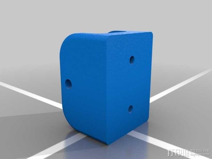 可伸缩门档 3D模型  图4