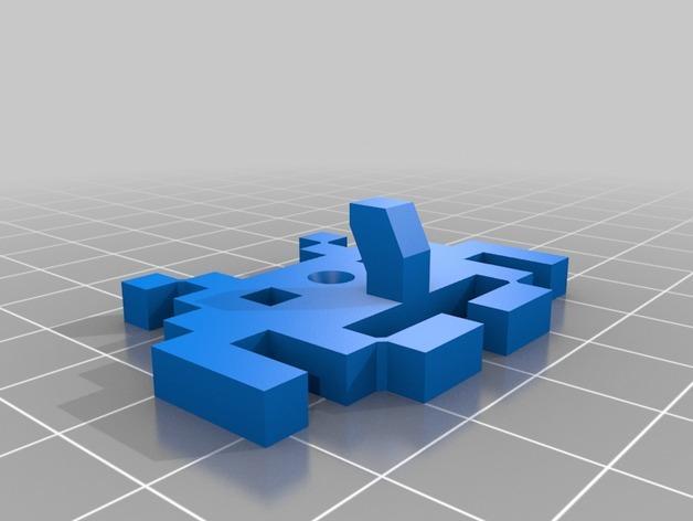 太空侵略者挂钩 3D模型  图2