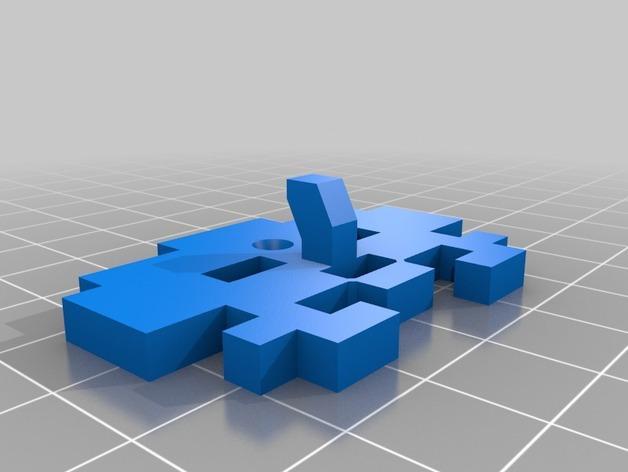 太空侵略者挂钩 3D模型  图3