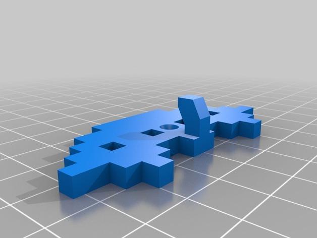 太空侵略者挂钩 3D模型  图5