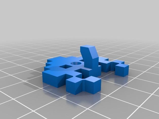 太空侵略者挂钩 3D模型  图4