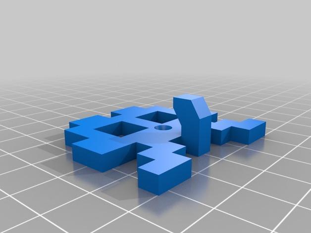 太空侵略者挂钩 3D模型  图7