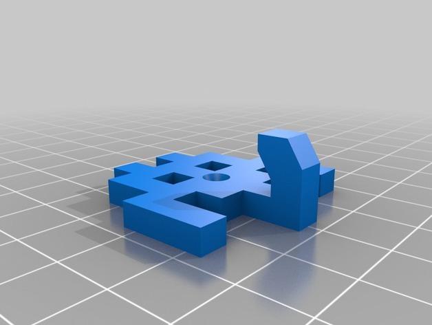 太空侵略者挂钩 3D模型  图9