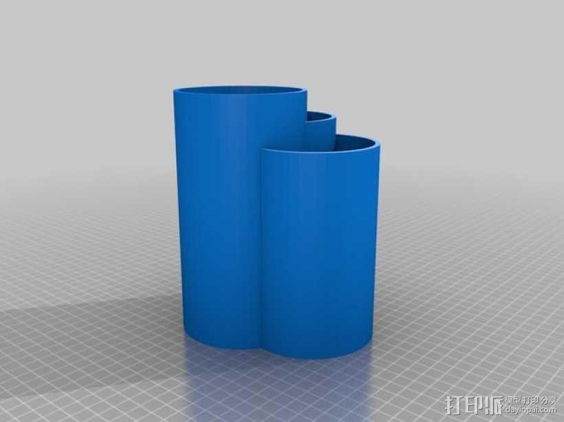 个性化笔筒 3D模型  图2