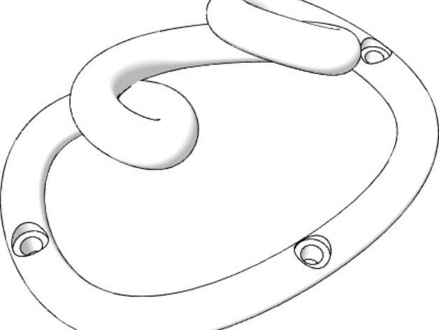 环形挂钩004 3D模型  图3