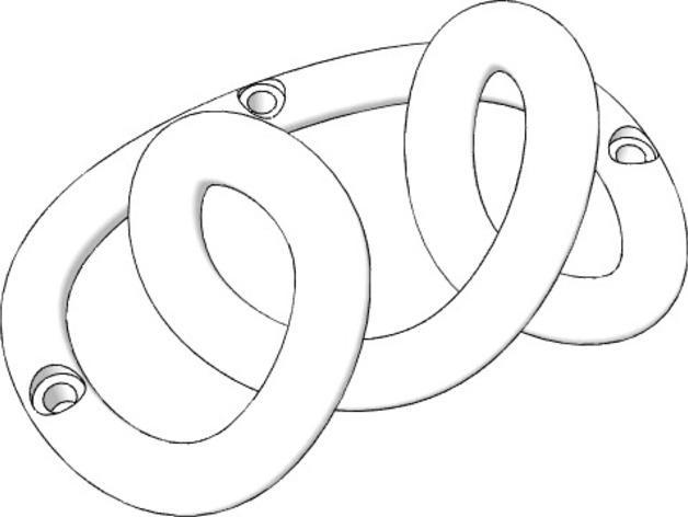 环形挂钩004 3D模型  图4