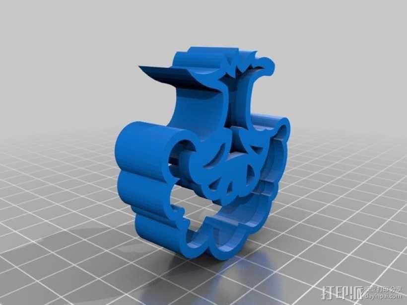 个性化饼干模具切割刀 3D模型  图3