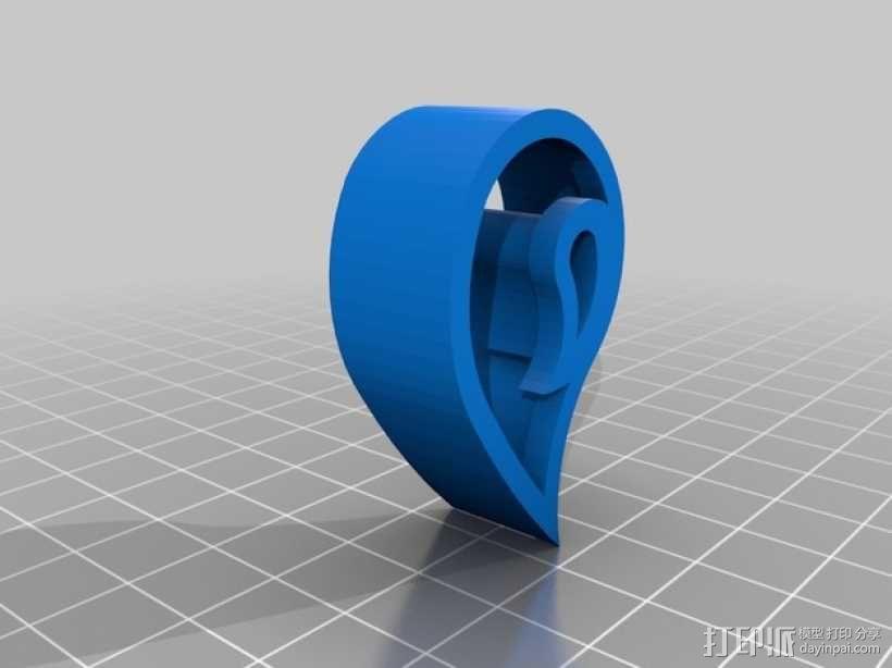 个性化饼干模具切割刀 3D模型  图4