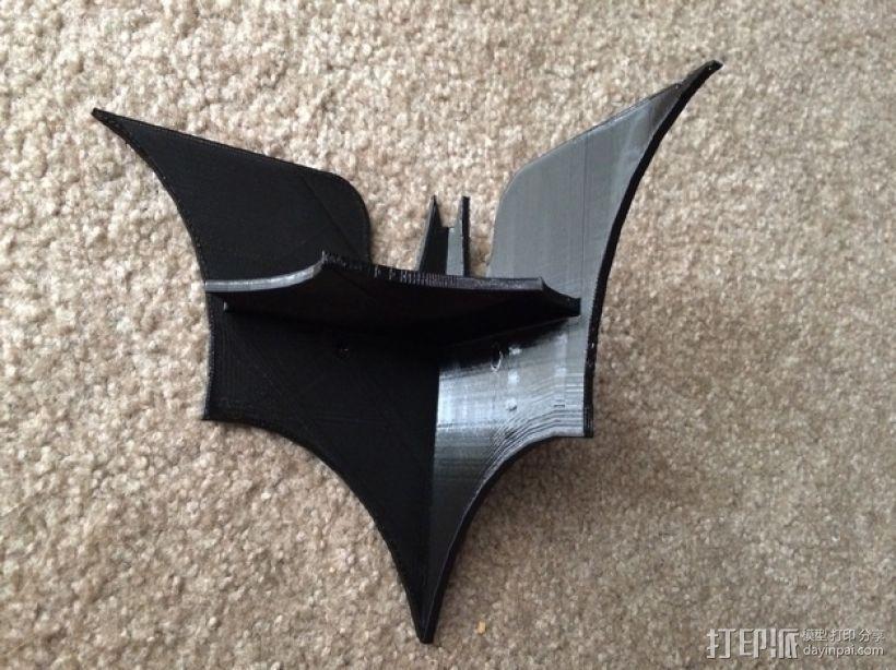 迷你蝙蝠形搁板 3D模型  图1