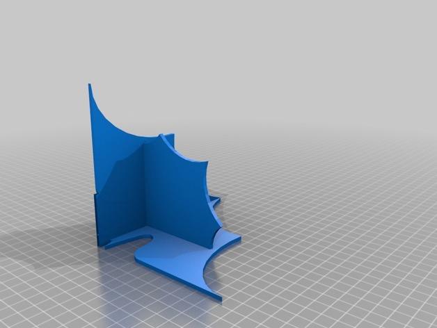 迷你蝙蝠形搁板 3D模型  图2