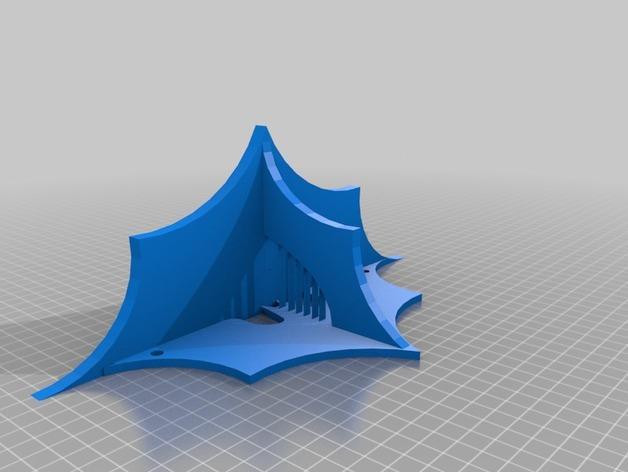 迷你蝙蝠形搁板 3D模型  图4