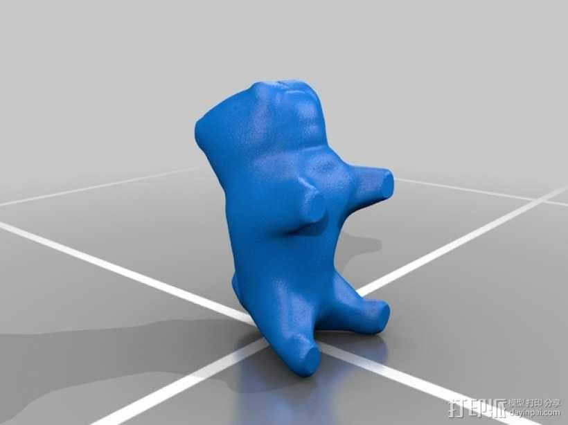 哈巴狗装饰品 3D模型  图4
