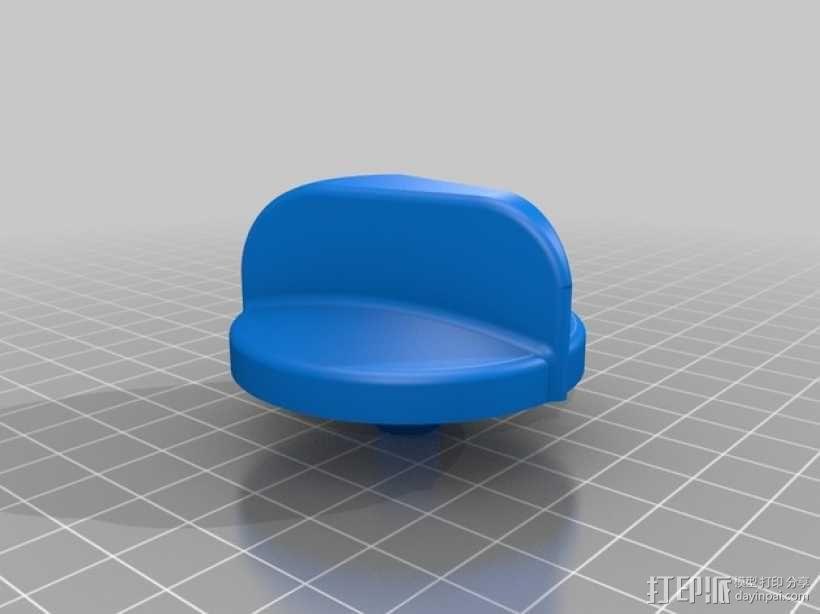 火炉旋转钮 3D模型  图1