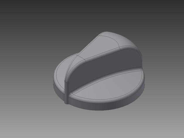 火炉旋转钮 3D模型  图3