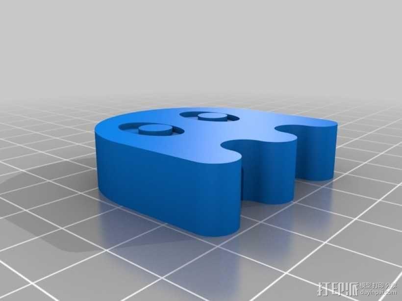 吃豆人圣诞树装饰品 3D模型  图1