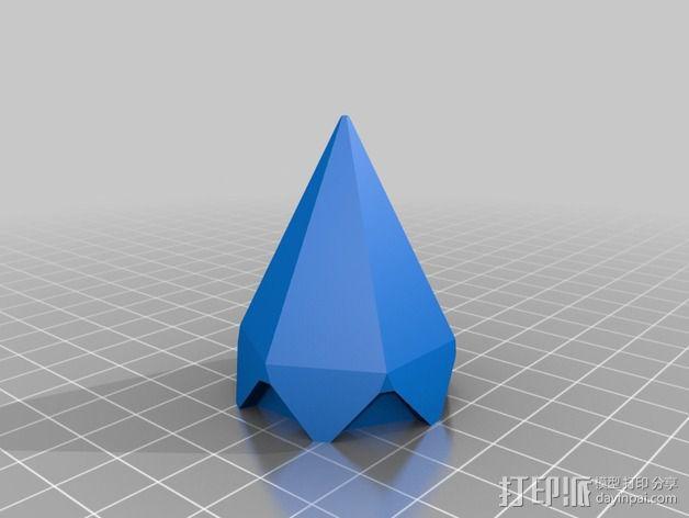 偏六面体吊坠装饰品 3D模型  图3