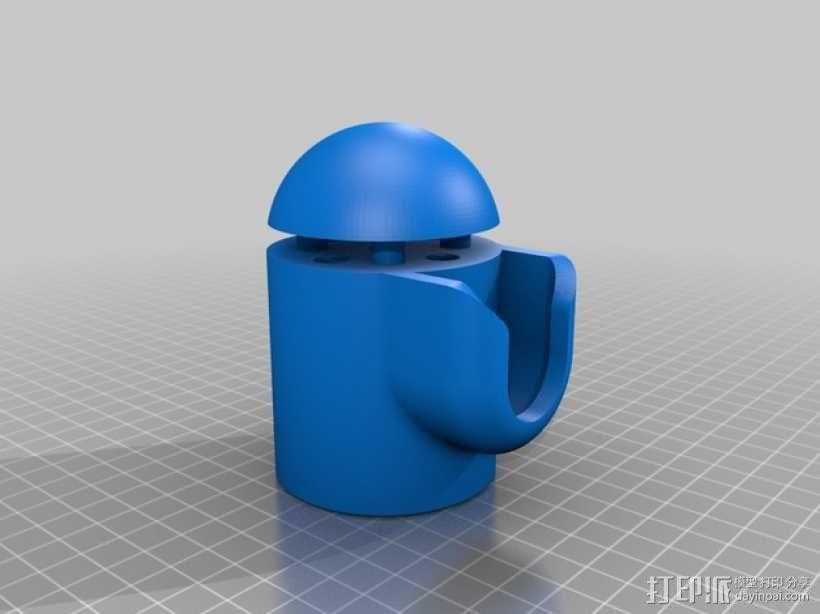 壁挂式盆栽/搁板把手 3D模型  图6