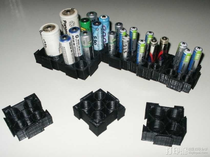 模块化电池盒 3D模型  图1