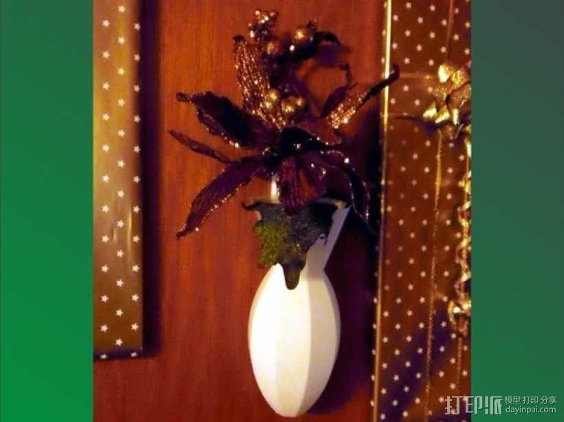 壁挂式花瓶 3D模型  图1