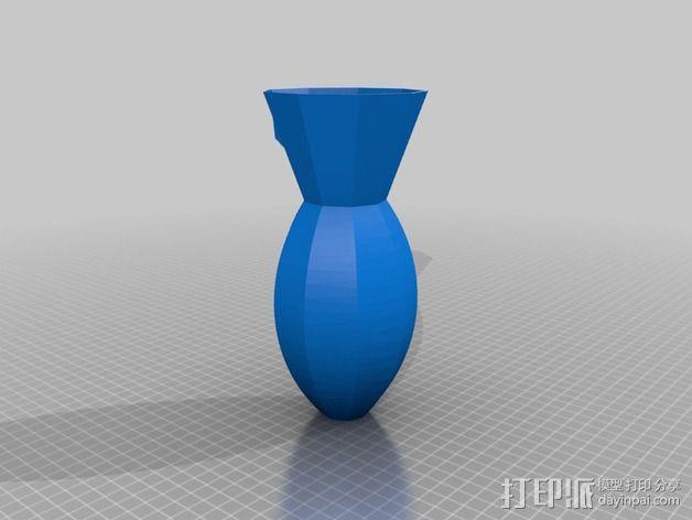 壁挂式花瓶 3D模型  图2