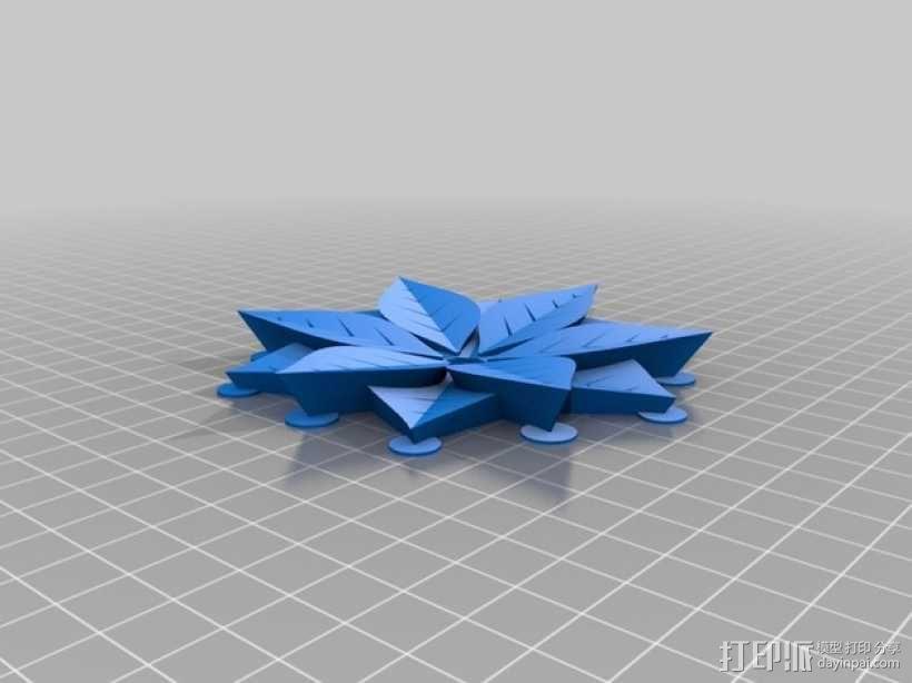 一品红装饰品 3D模型  图2