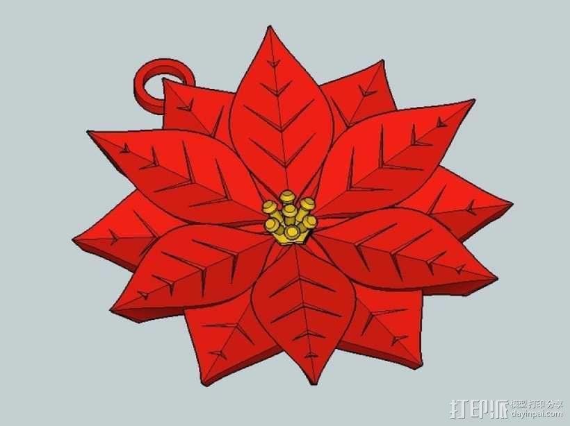 一品红装饰品 3D模型  图4