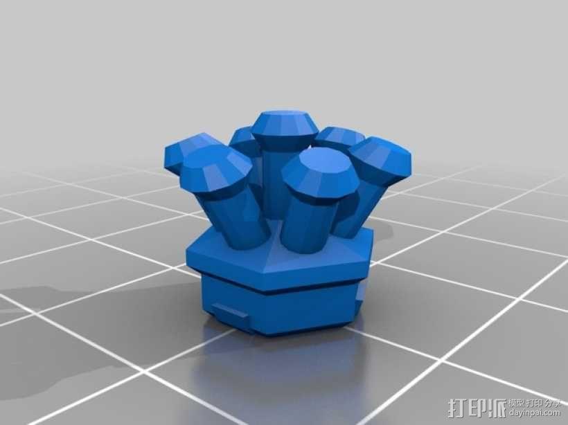 一品红装饰品 3D模型  图5