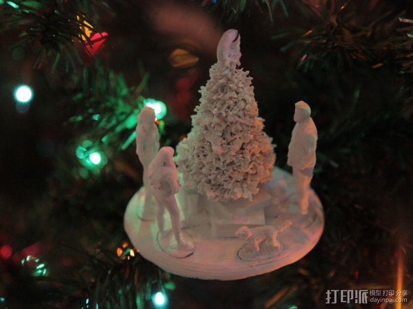 圣诞礼物装饰品 3D模型  图1