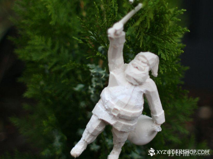圣诞树装饰品:圣诞老人 3D模型  图1