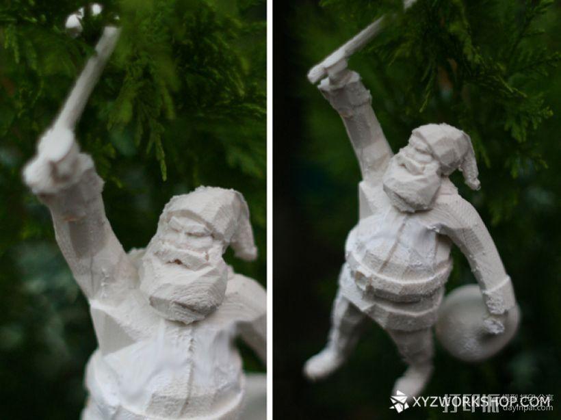 圣诞树装饰品:圣诞老人 3D模型  图4