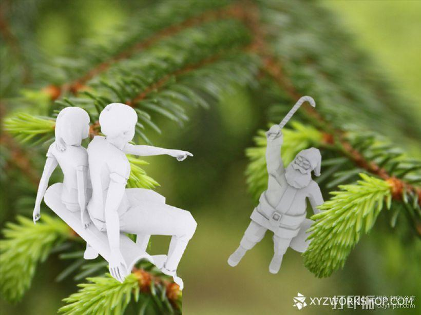 圣诞树装饰品:圣诞老人 3D模型  图2