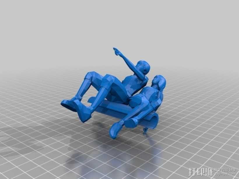 圣诞树装饰品:圣诞老人 3D模型  图9