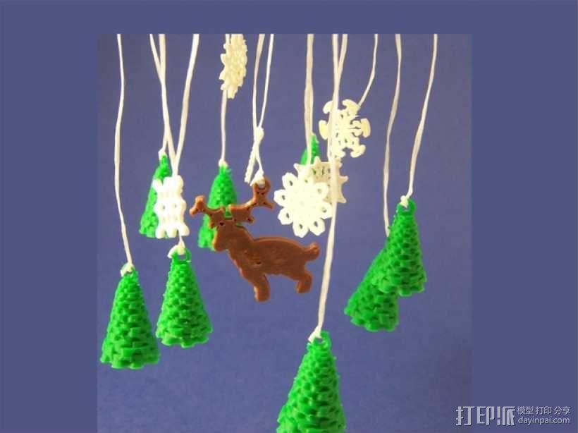 迷你风铃形装饰品 3D模型  图3