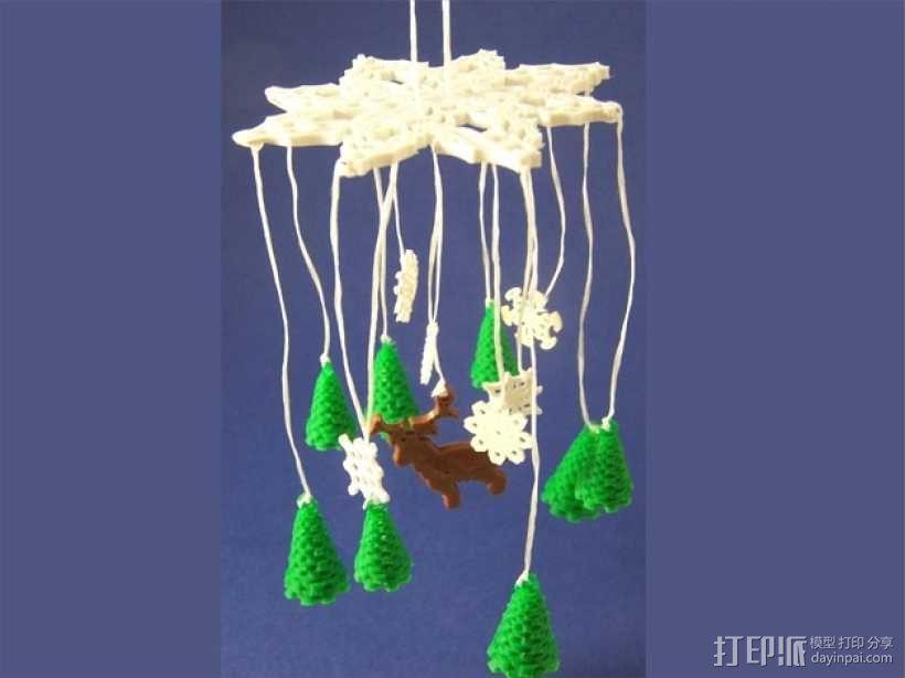 迷你风铃形装饰品 3D模型  图1