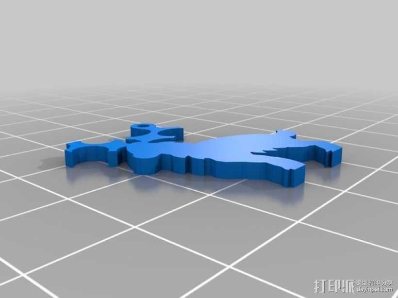 迷你风铃形装饰品 3D模型  图4