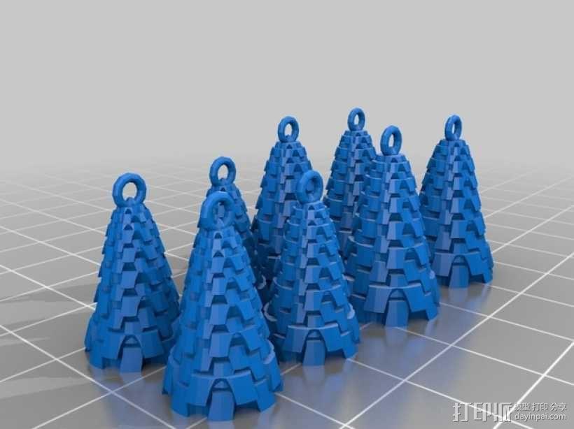 迷你风铃形装饰品 3D模型  图6