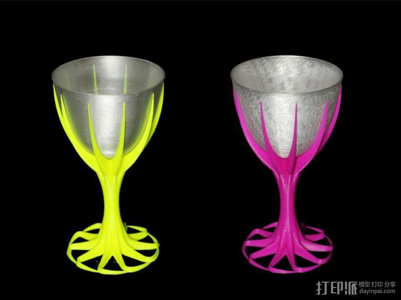 双色酒杯 3D模型  图1