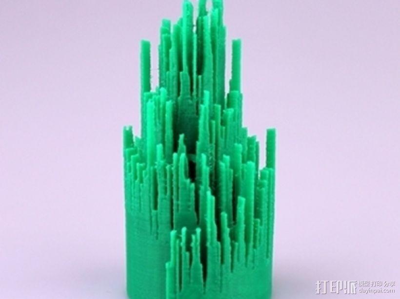 圣诞树形门铃 3D模型  图1